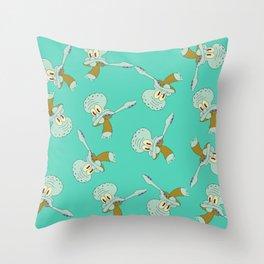 Squidward Dab Throw Pillow