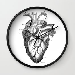 Anatomic hearth engraving Wall Clock