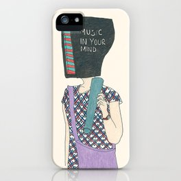 music in your mind iPhone Case