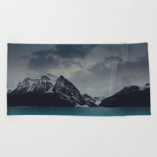 Lake Louise Winter Landscape Beach Towel