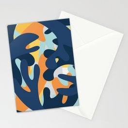 Swirl Abstract Blob Paint Stationery Cards