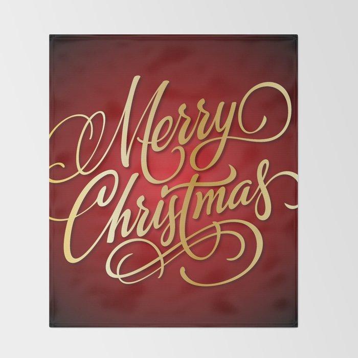 Christmas Throw Blanket.Merry Christmas Throw Blanket By Hollllllyj