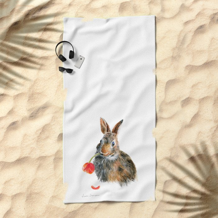 """Trouble"" by Teresa Thompson Beach Towel"