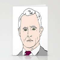 mad men Stationery Cards featuring Roger Sterling - Mad Men by Aishling K