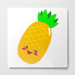 Animated Pineapple Metal Print