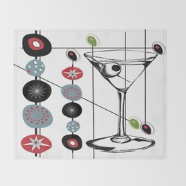 Mid-Century Modern Art Atomic Cocktail 3.0 Throw Blanket