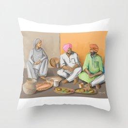 Punjabi Kitchen 2 Throw Pillow