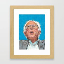 Senator Bernie Sanders Candidate for the Democratic nomination for President of the United States Framed Art Print