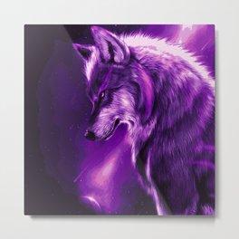 Majestic Alpha Wolf Metal Print