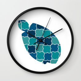 TURTLE SILHOUETTE WITH PATTERN Wall Clock
