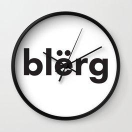 blerg Wall Clock