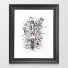 wonderland shattered Framed Art Print