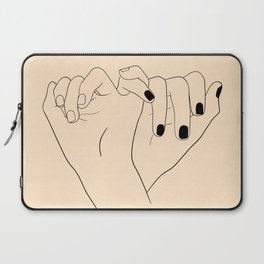 yellow pinky swear Laptop Sleeve