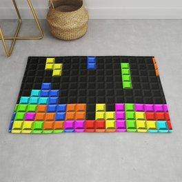 Retro Video Game Blocks Pattern Rug
