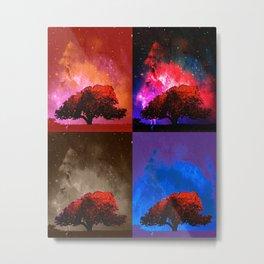 Magic Space Trees II Metal Print