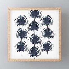 fan palm pattern Framed Mini Art Print