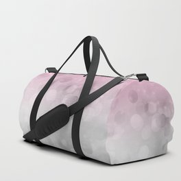 Pink  Grey Soft Gradient Bokeh Lights Duffle Bag