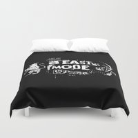 depeche mode Duvet Covers featuring Beast Mode by Triple C Apparel