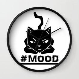 #MOOD Cat Black Wall Clock