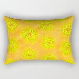 Orange Crush Petal Rose Rectangular Pillow