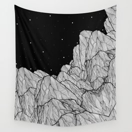 Rocks of the moon Wall Tapestry