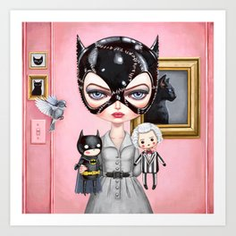 Catwoman - Playtime For Kitty Art Print