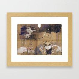 göç (migration) Framed Art Print