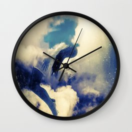 Woman and sky Wall Clock