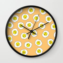 Sunny Side Up Pattern - Topaz Wall Clock