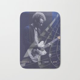 Guitarist in concert blue Bath Mat