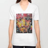 jack sparrow V-neck T-shirts featuring Jack Sparrow by Ruud van Koningsbrugge