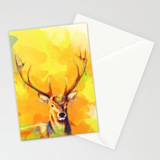 Forest King - Deer painting Stationery Cards