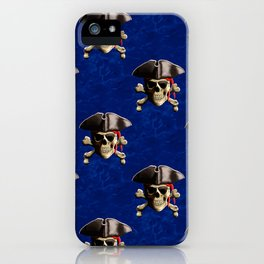 Jolly Roger In Pirate Hat iPhone Case