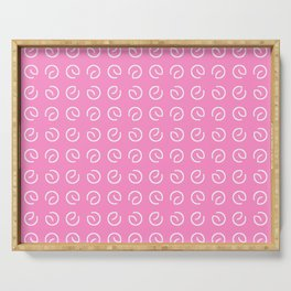Antic pattern 14- from LBK pink Serving Tray