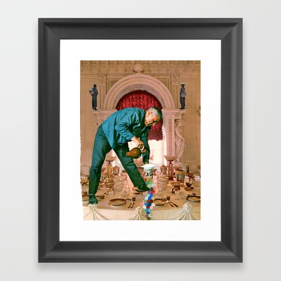 Table Manners Framed Art Print