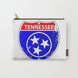 Tennessee Flag Icons As Interstate Sign Carry-All Pouch
