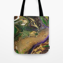 Fluid Gold XII - Abstract, textured, fluid, acrylic painting Tote Bag