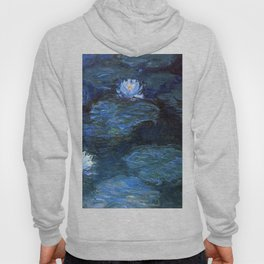 Water Lilies Dark Blue Claude Monet 1899 Hoody