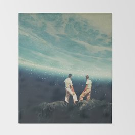 The Earth was crying and We were there Throw Blanket