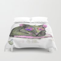 rat Duvet Covers featuring Rat by Bwiselizzy