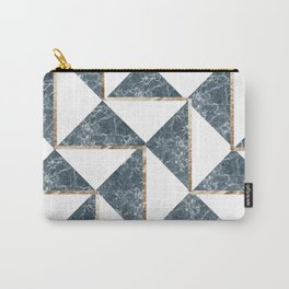 Into The Ocean Gold Foil Geometric Pattern #3 Carry-All Pouch