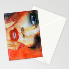 Title: Pastel Portrait - Orange Passion Stationery Cards