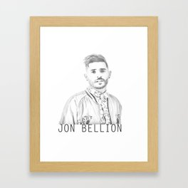 Jon Bellion Illustration with text Framed Art Print
