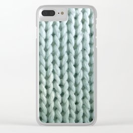 eau de knitwit Clear iPhone Case