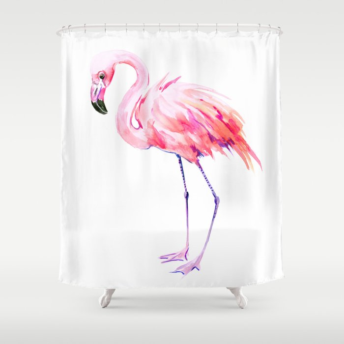 Flamingo pink flamingo design decor flamingo lover artwork Shower Curtain