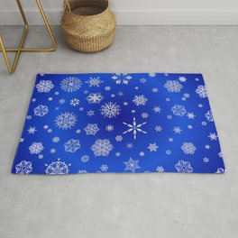 Snow in the Winter Night Rug