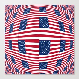 flag of the usa – tribute to Vasarely Canvas Print