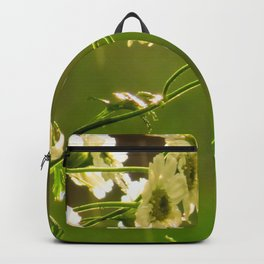 Babies breath at the onset of rain Backpack