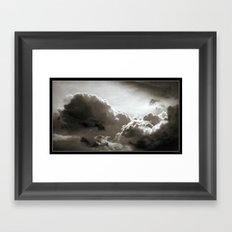Storm Crow Framed Art Print