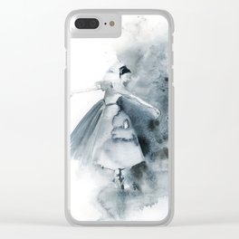 Ballerina in Blue Clear iPhone Case